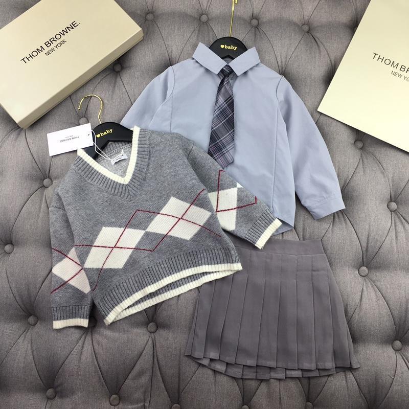 2019 nuovo abito a due pezzi manica lunga per bambini di alta qualità190810 # 022