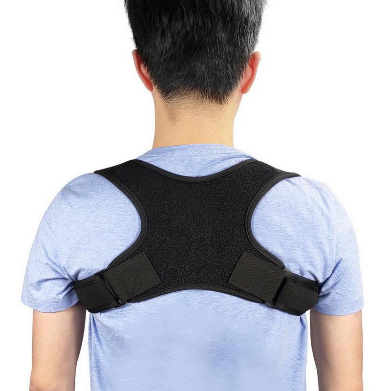 Corrector de la postura de la Mujer Los hombres de estiramiento de la banda superior de la espalda de la espina dorsal enderezadora YA88 Corrección