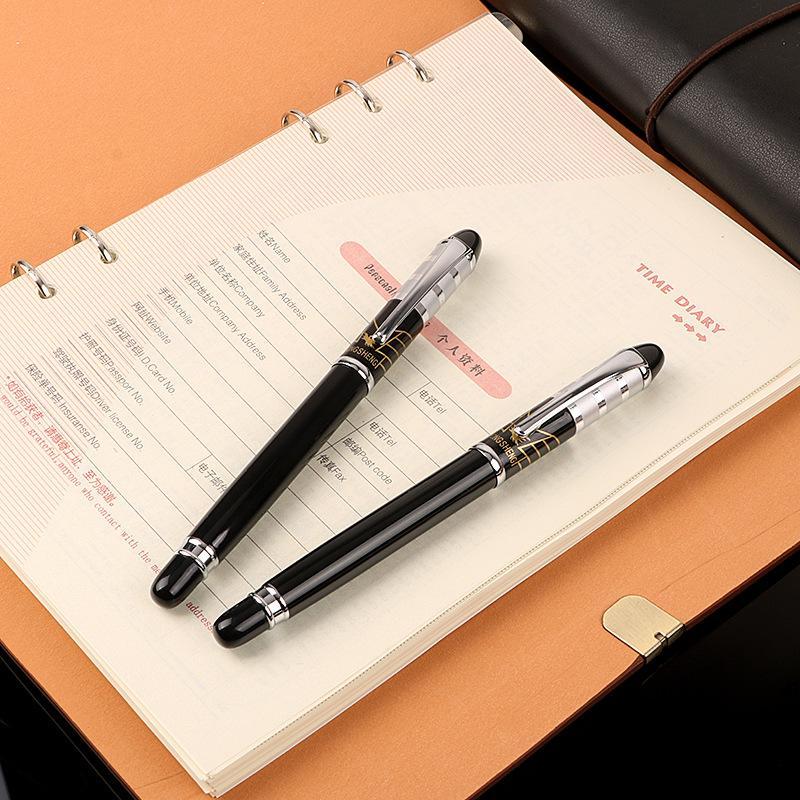L'alta qualità della penna elegante fontana classico commercio penna di spessore del corpo 0,38 millimetri pennino in metallo scrittura School office supplies