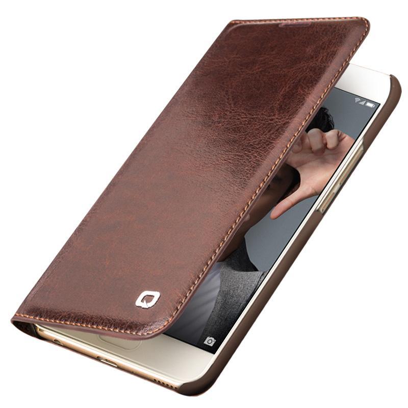 Großhandel echtes leder case für huawei honor 9 handgefertigte brieftasche flip tasche abdeckung für huawei honor 9 luxus ultra slim flip case