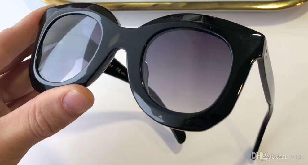 MARTA Mesdames Noir Gris Lunettes de soleil papillon Acetate femmes mode lunettes sunglases nouveau avec la boîte