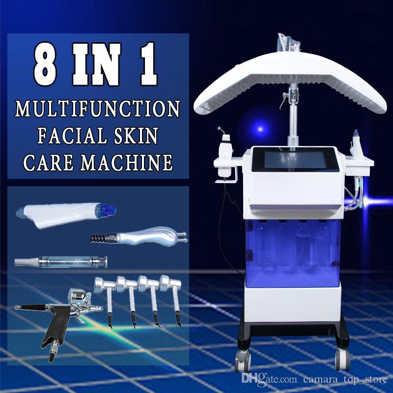 8 IN 1 dermabrasion diamond peeling machine Skin Rejuvenation Oxygen Spray Skin Scrubber facial diamond peeling device mites clear skin