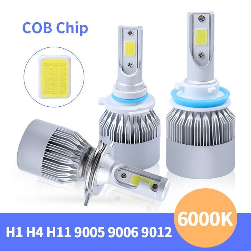 2Pcs 12V C6 led h7 Auto Led Headlight Kit H4 Bulb H11 9005 9006 H15 9012 72W 7000lm Auto Lamp Cob Car Light Fog Lights Canbus