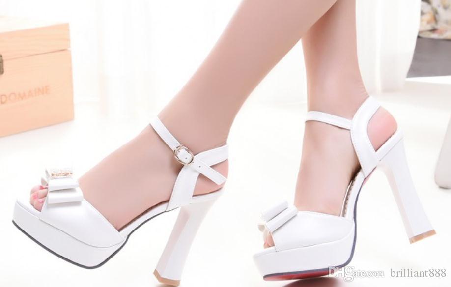 2019 Women's Sandals in Summer with New style High heel Coarse heel waterproof table @14