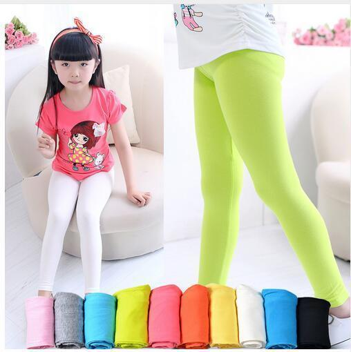 Girls Leggings Pants Spring And Autumn Candy Colored Pants Children Girls Leggings
