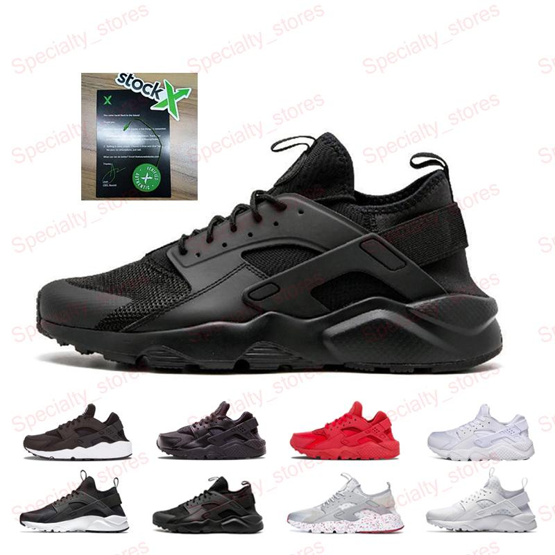 Hot Sale Hurache 4.0 Black Running Shoes Red White Huarache 1.0 For Men Women Lightweight Breathable Outdoor Sneakers US 5.5-11