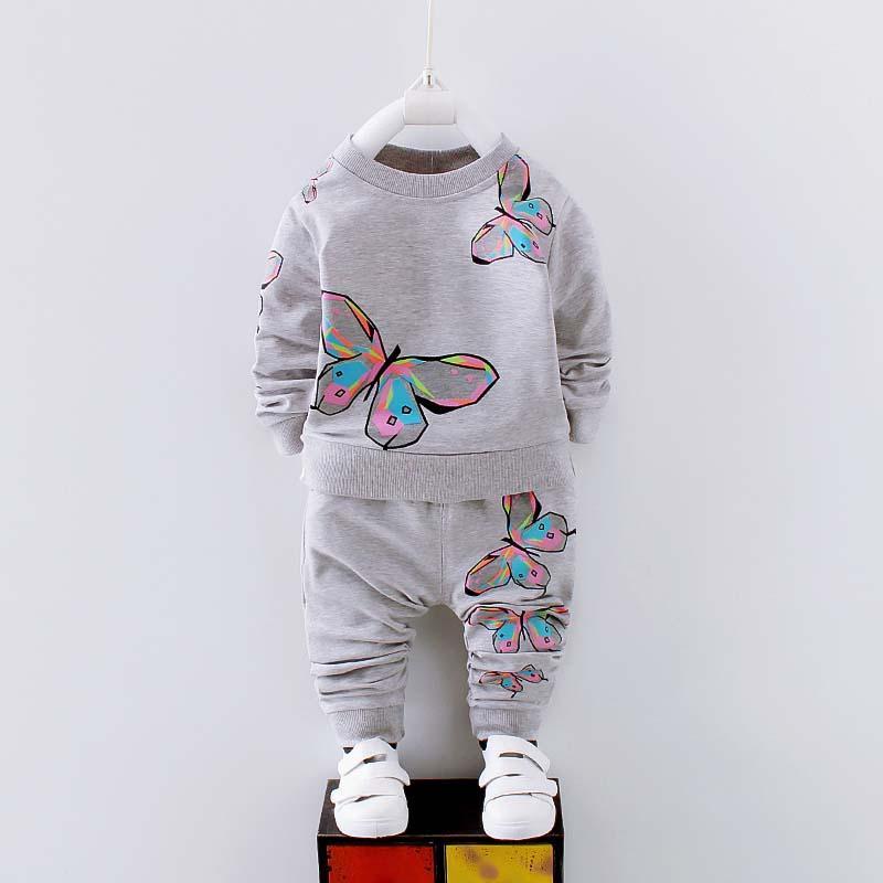 Herbst-Baby-Kleidung stellt Frühlings-Kind-Mädchen-Kleidung-Baby-Kleidung Sweatshirts + Pants Trackuit Mädchen Sport-Set