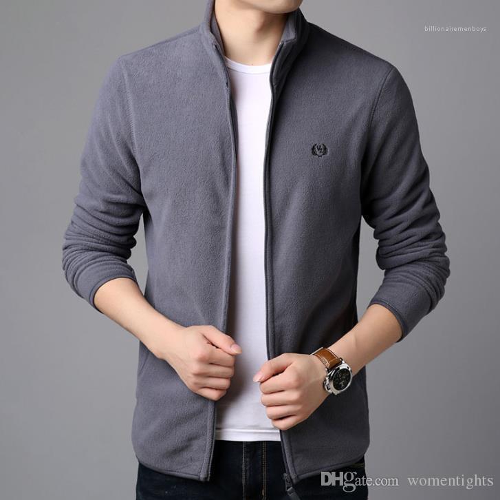 Solido Colore Inverno Autunno caldo Hombres Cappotti Abbigliamento Uomo Inverno Desinger spessore Fleece Jacket