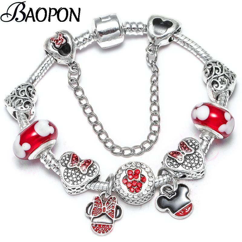 BAOPON Dropshipping Charm Armband Mit Silberkette Feines Armband Für Frauen Femme Pulseras Mujer Dropshipping