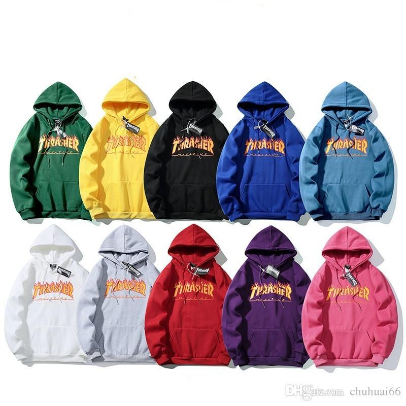 남성 디자이너 느슨한 스웨터 고품질 남성과 여성 후드 자켓 블랙 화이트 색상 크기 S - XXL