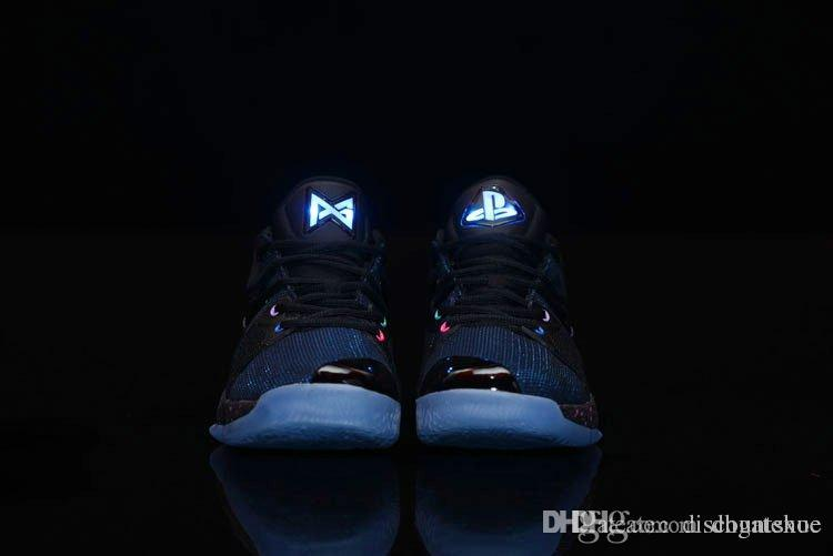 f206796938c9 Free Shipping (Light UP) Free Shipping Paul George 2 Playstation Blue  Climbing Shoes Mens PG 2 Playstation Shoes Size US 7-13 With Box