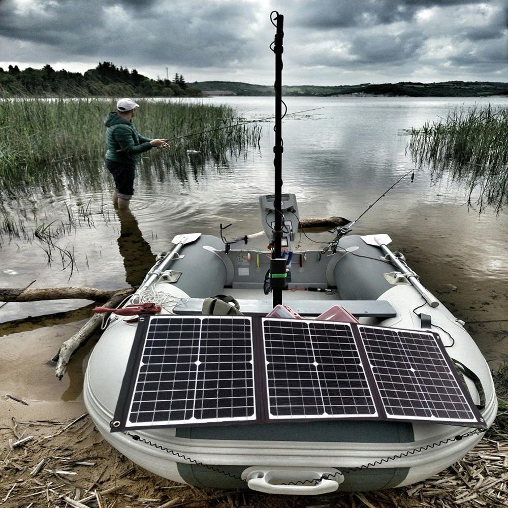 새로운 ETFE 전기 선박 엔진 토키 75 와트 36V 접는 태양 전지 패널 프레임없는 직물 휴대용 태양열 충전기