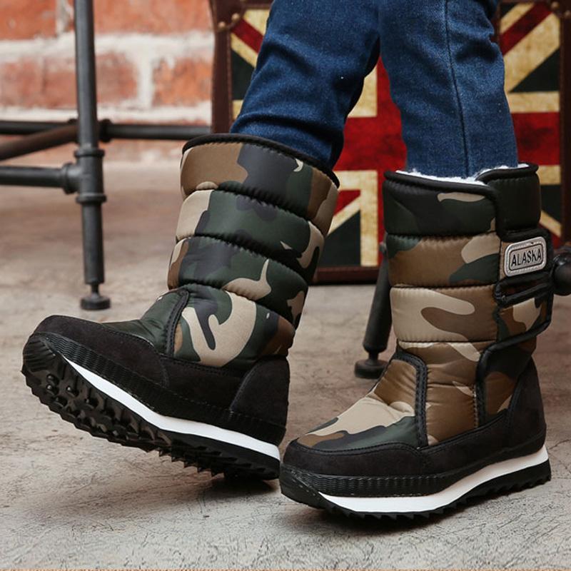 2019 enfants d'hiver bottes bottes garçons bottes de neige filles sport sport chaussures pour garçons chaussures de la mode en cuir enfant chaussures enfants enfants