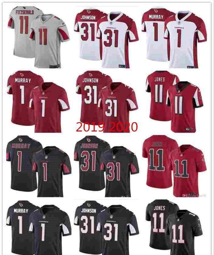 2019 2020 Chemises faites sur commande bon marché des jeunes hommes femmes ArizonaCardinalsJersey 1 KylerMurray 11 arryFitzgerald 31 maillots de hockey DavidJohnson