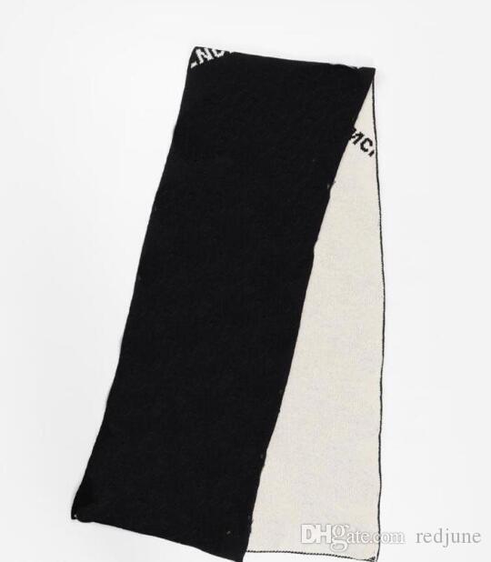 긴 스타일 문자 인쇄 남성 디자이너 스카프 새로운 가을, 겨울 흑백 여성 남성 스카프 거리 따뜻한 여성 스카프