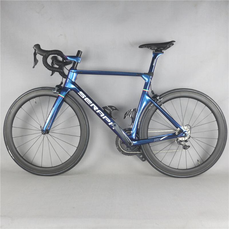 New seraph chameleon painted complete bike inter cable with R8000 22 Speed Groupset carbon road bicycle-X1