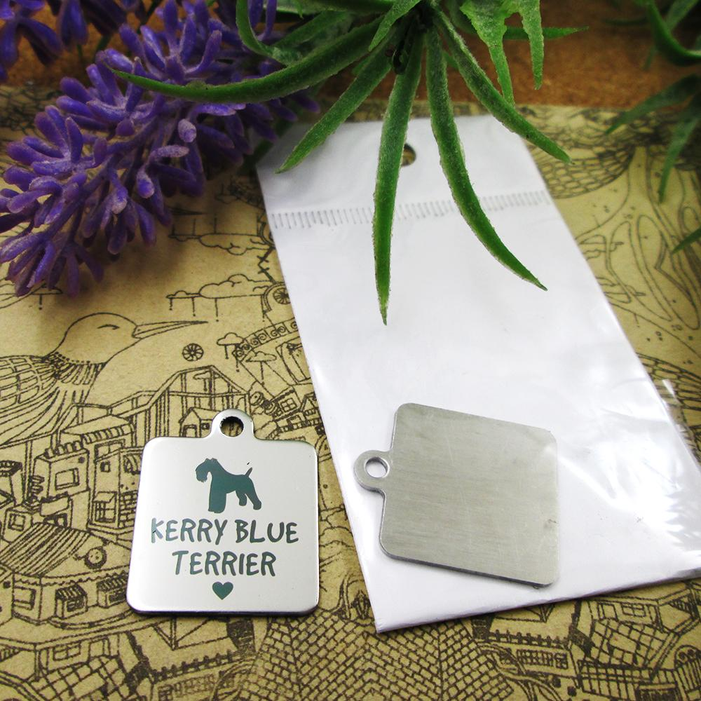 """40pcs - """"Perro de Terrier de azul de Kerry"""" encantos de acero inoxidable más de estilo para elegir colgantes encantos de DIY para el collar"""