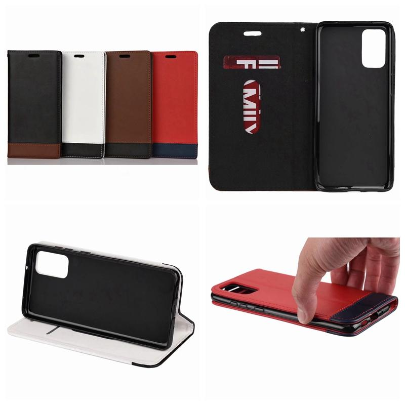 Genuine Leather Wallet Case For Iphone 11 Pro Max Samsung S20 Ultra Plus Suck Flip ID Card Slot Magnetic Closure Cover Skin Holder Purse