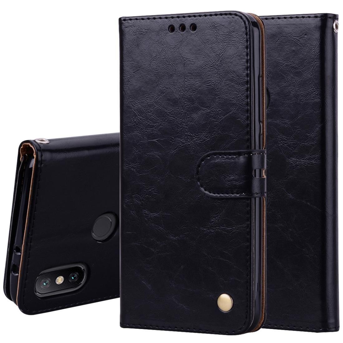 Estilo de negócios Oil Wax Texture Horizontal Leather Case Virar para Xiaomi Mi 6X / A2, com Titular Slots Carteira
