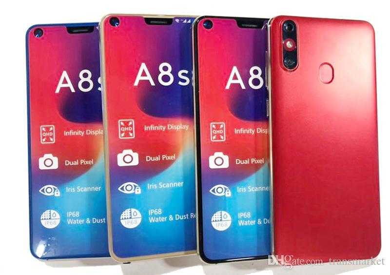 Cheap Smartphone A8s 5.5Inch HD Screen display 200MB Ram 200MB Rom Memory Mobile Phone