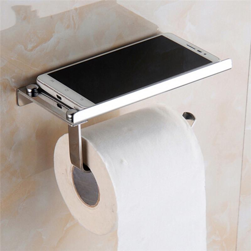 Telefon raf raf mutfak banyo aksesuarları Ürünler Banyo Duş Paslanmaz çelik tuvalet kağıdı havlu tutucu rulo tutucu