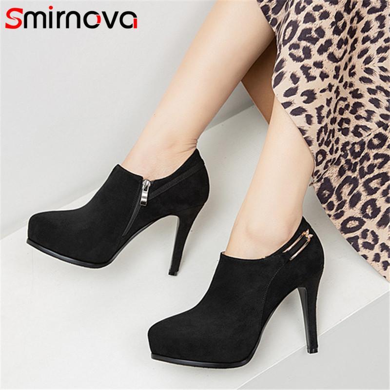 Smirnova 2020 nouvelles arrivent chaussures de plate-forme talons hauts femmes troupeau zip chaussures printemps été partie unique pompes femmes de mariage