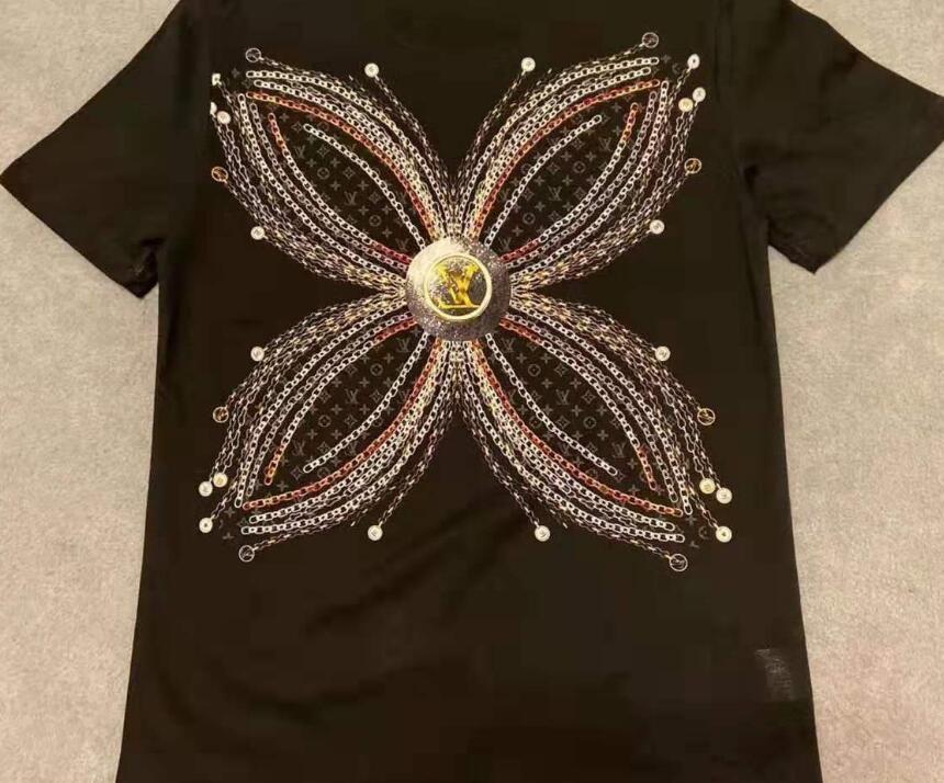 Повседневная футболка мужская одежда лето Дези 20 гнер рубашка черный белый оранжевый размер S-XXL хлопок смесь круглый вырез с коротким рукавом мультфильм печати