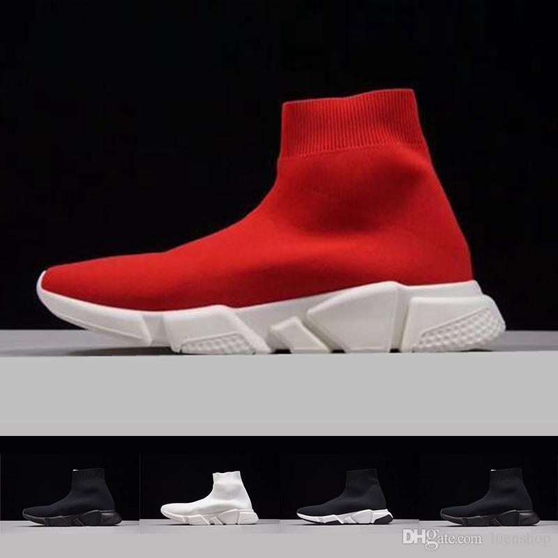 Schwarz Adidas Balenciaga Boost Schuhe Sockenschuh Speed Sneakers Großhandel Läufer Trainer Laufschuhe Hochwertige Trainer Socken Race Speed hQsrdt