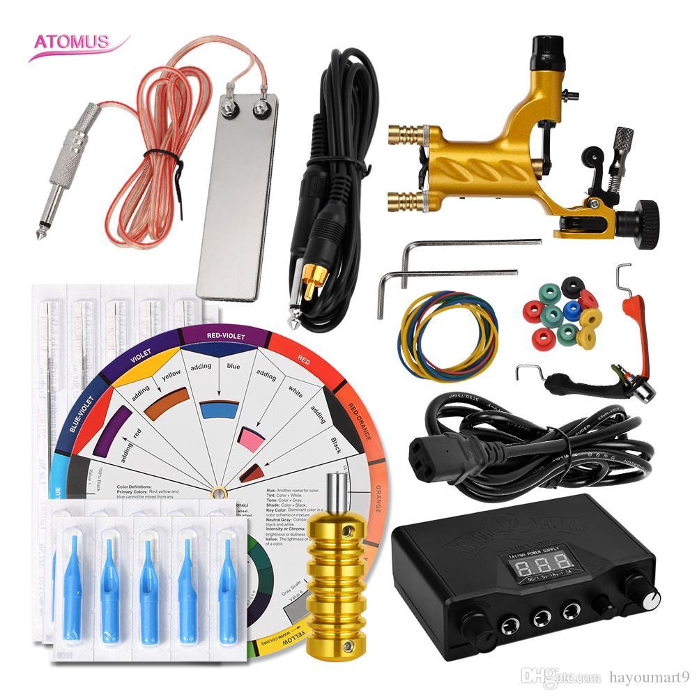 Kit profissional Cartucho De Tinta Do Motor Completo Conjunto de Tatuagem Caneta Rotary Tatuagem Liner Kit Shader Acessórios Completa Arma Profissional Conjunto
