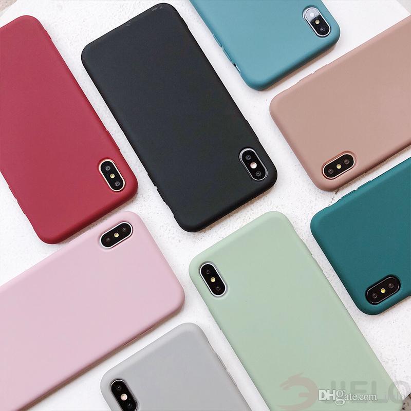 Para o caso Xiaomi TPU Telefone X XR XS Max Silicone Case para telefone 7 8 mais 6 6s 5s se caso macio tpu líquido tampa de telefone de choque à prova de huawei