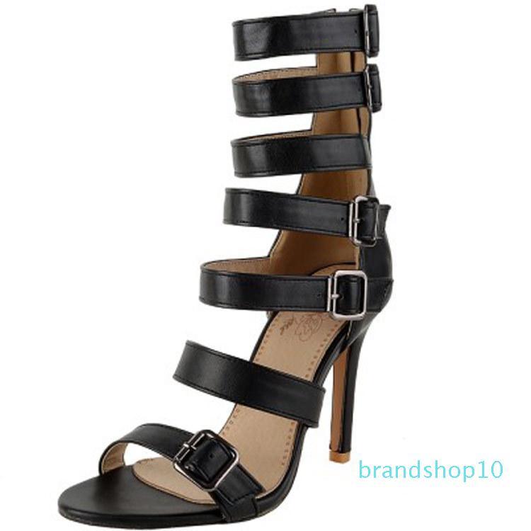 Hot2019 Sandales Aide à haute Rome Chaussures La plupart 40-46 Femmes Chaussures à talon haut fin avec l'été 581-3