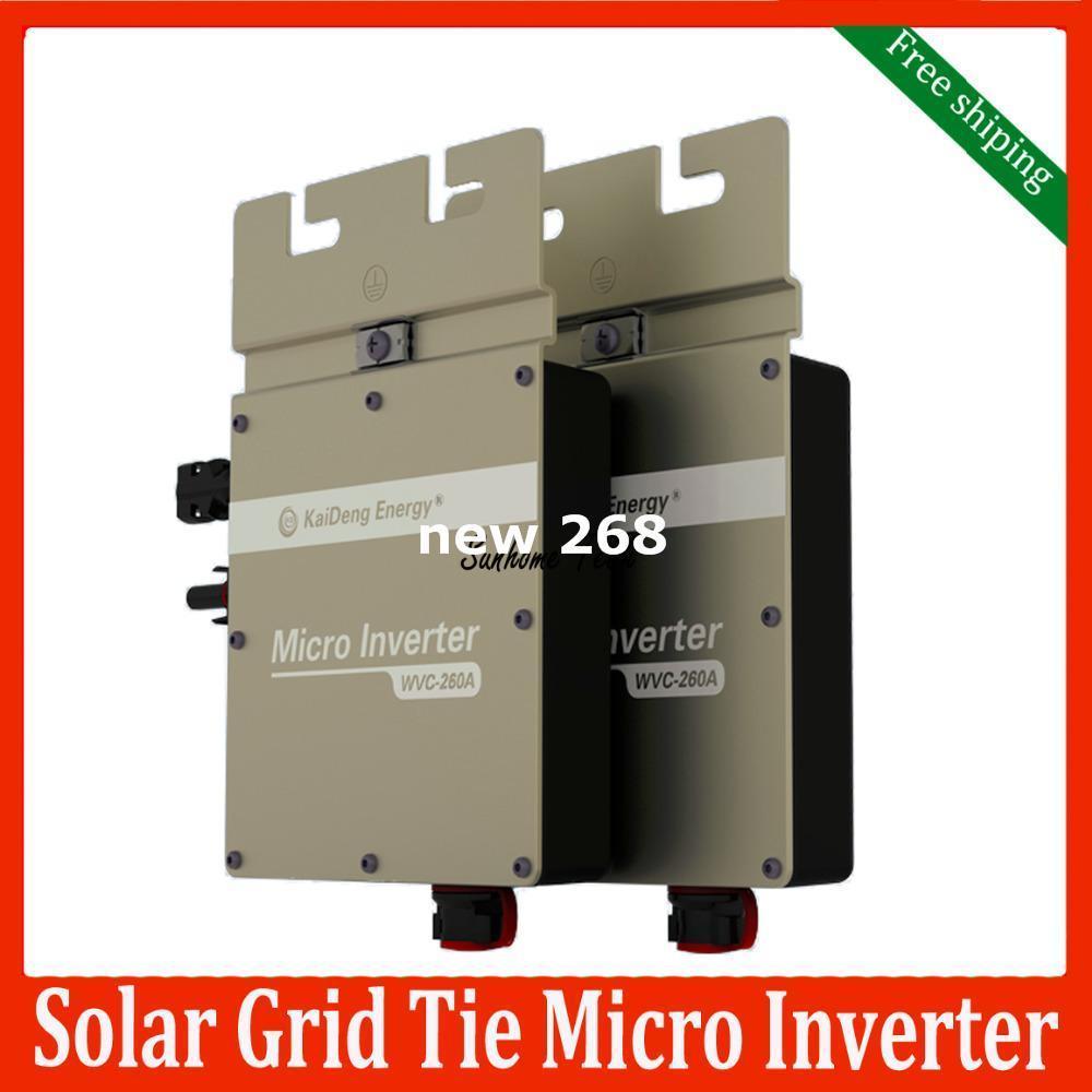 Freeshipping 260W solar grid tie micro inverter IP67 DC22V~50V MPPT Solar Inverter with Power Line Carrier-current Communication