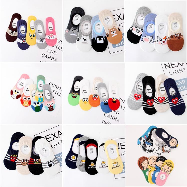 Heiße Sommer-Frauen-Knöchel-Socken-nette Karikatur-Häschen Hund Owl Cat Hear srtip Anti-Rutsch-Socken Studenten Gefälschte Socke Nizza Toe