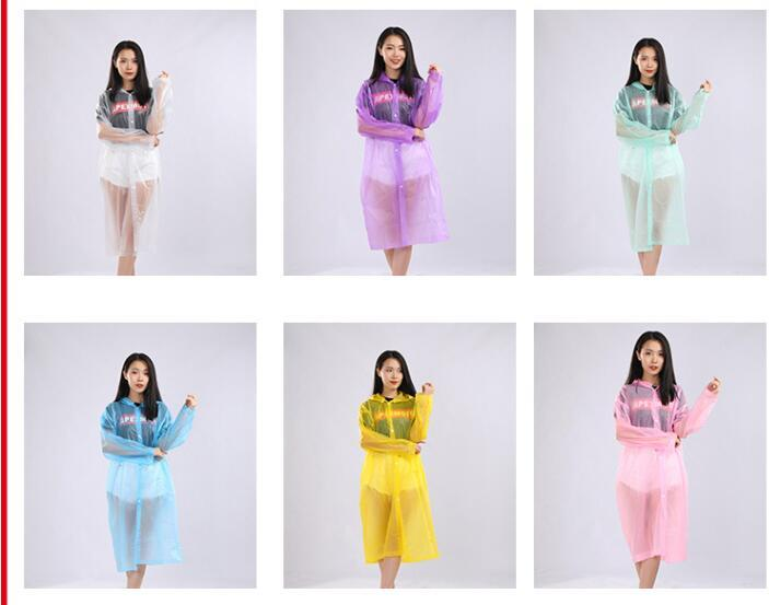 Disposable raincoats frosted and thickened adult raincoats poncho mens womens outdoor raincoats white red yellow pink many colors 308