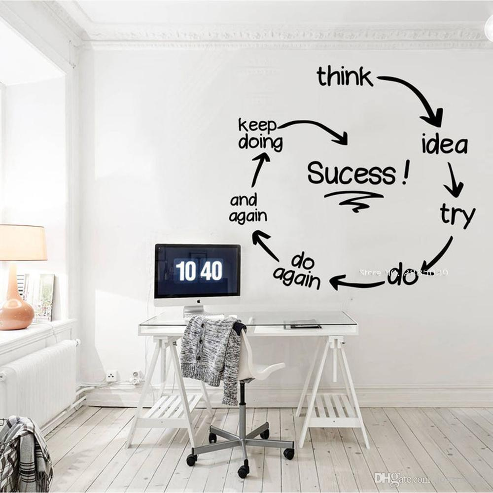 Success Quotes Office Wall Decals Entrepreneur Art Walls Decor