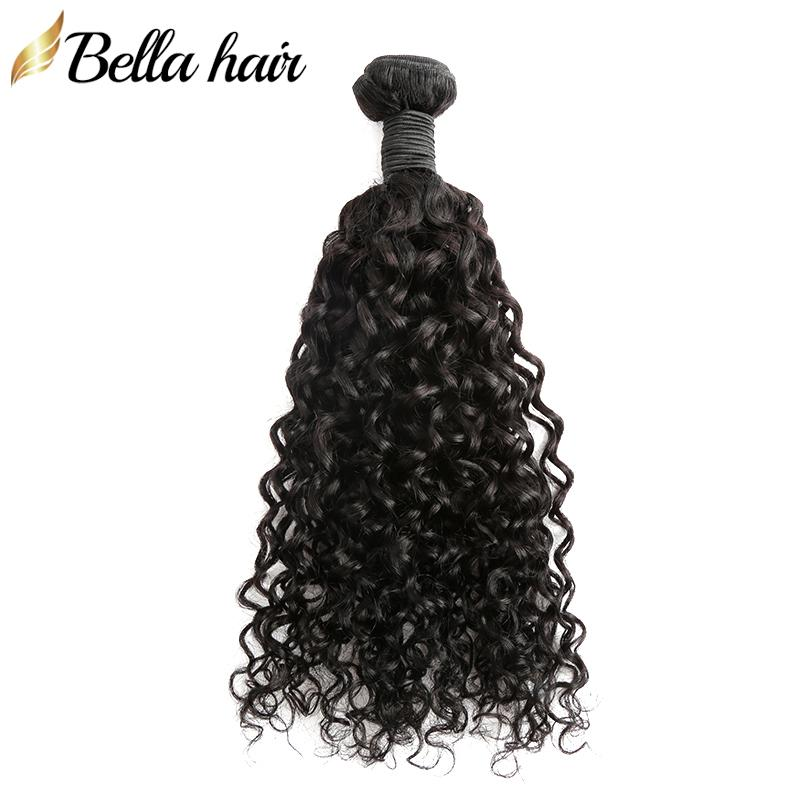 """Bellahair mongolische jungfräser haar bündel lockig 100% menschliche haare fefts 10 """"-28"""" natürliche farbe haarverlängerungen bulk großhandel"""
