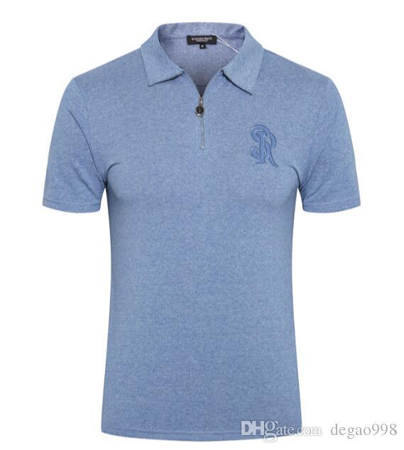 Stef * no ri * ci رجل t-shirt جلد موجة قصيرة الأكمام 2019 الصيف موضة جديدة التطريز مريحة تنفس المد
