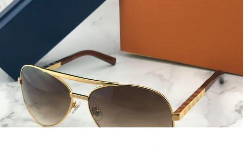 Millionärs-Sonnenbrille vollen Rahmen Vintage Designer 0339 Sonnenbrillen für Männer Glänzende Gold Heißer Verkauf Vergoldete Top Qualität 1.1 Sonnenbrille 96006