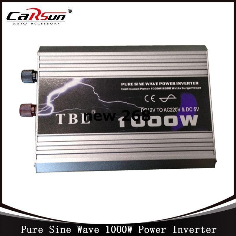 Freeshipping DC12V to AC220V 1000W Pure Sine Wave Car Power Inverter Grid Tie Solar Inverter Power Inverter For Solar and Wind Hybrid