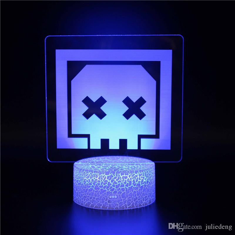 Red Dead Redemption 3D LED Night Light APEX Skull Face Design Night Light Collection 3D Magic Color Changing Children Gifts