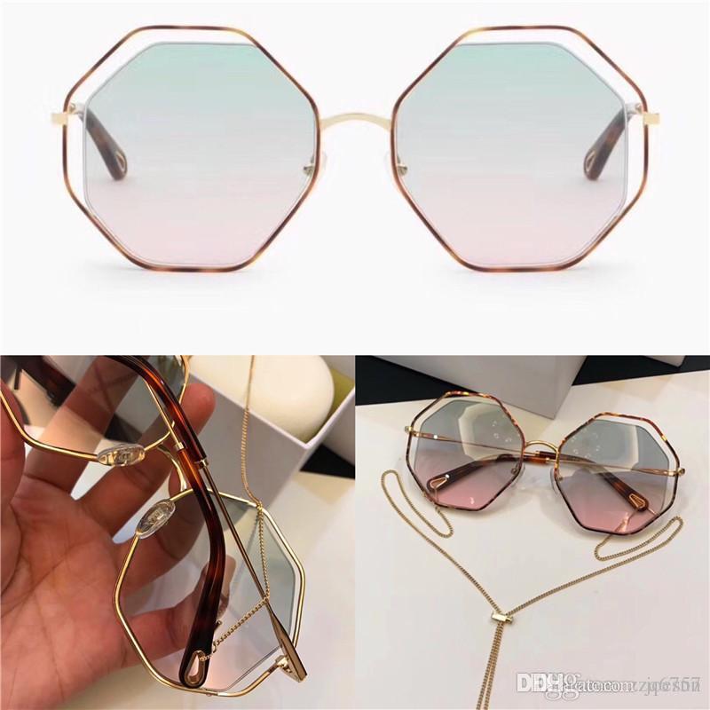 Neue Mode Beliebte Sonnenbrille Unregelmäßigen Rahmen mit speziellen Design Objektivbeine trägt Anhänger Abnehmbare Frau Lieblingsart Top Qualität 132