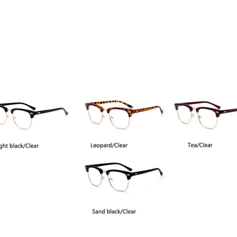 All'ingrosso-Rivet trasparente Nerd Occhiali neri semitelaio Occhiali vintage Cle Glassses Frames For Men Frames donne Eyewear
