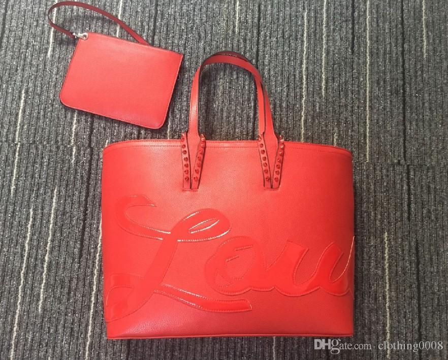 Las mujeres de alta calidad del bolso de la manera cabata totalizadores famosos bolsas bolso compuesta Inicio genuino Bolso de cuero con cartera