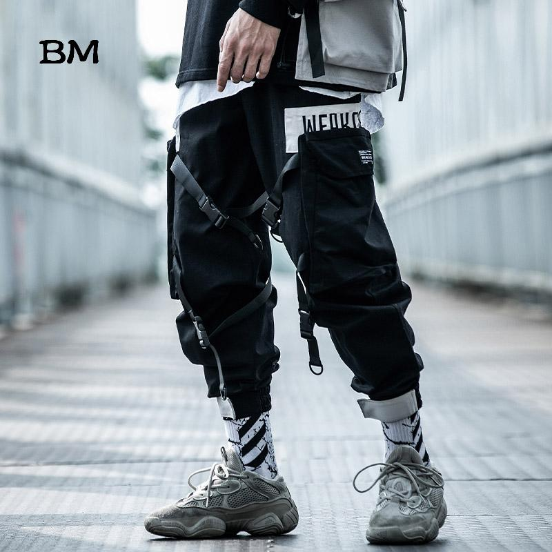 La moda Hip Hop Techwear Pantalones Streetwear Harem masculino Exo coreanos Negro Joggers 2019 camuflaje táctico para hombre holgada