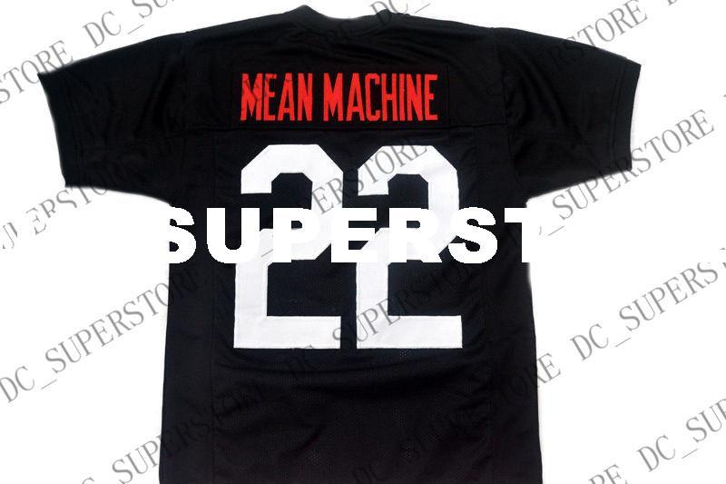 wholesale Mean Machine #22 Longest Yard New Football Jersey Black Stitched Custom any number name MEN WOMEN YOUTH Football JERSEY