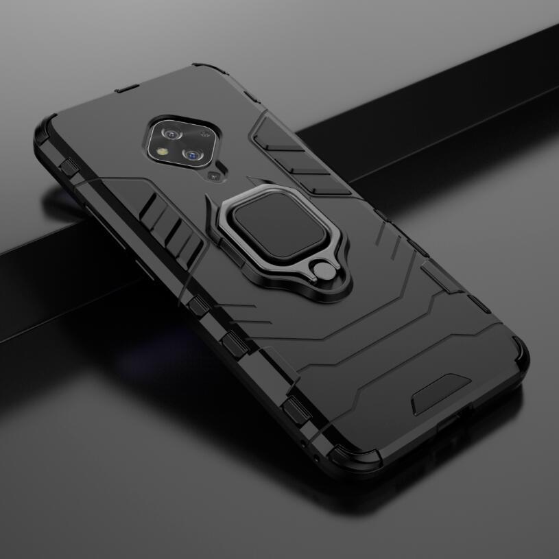 Para Vivo S5 caso de Loop qualidade stand robusto Combo híbrido Armadura Bracket Impacto Estojo Capa protetora para BBK Vivo S5