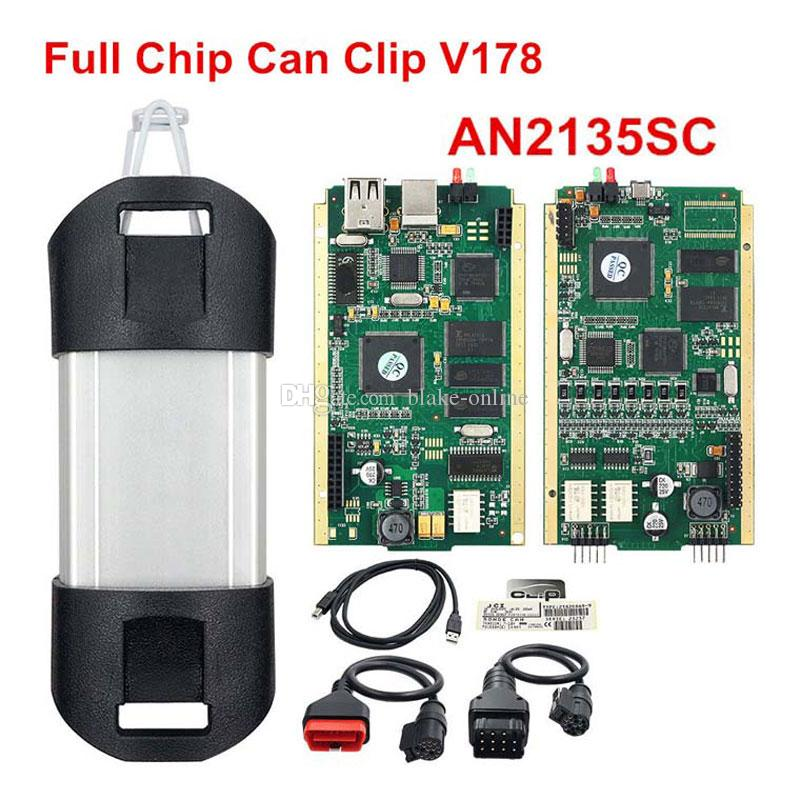 Авто для Renault Can Clip Диагностический сканер Полный чип AN2135SC V172 Диагностический интерфейс инструмента OBD2 Диагностический интерфейс Kit Code Reader