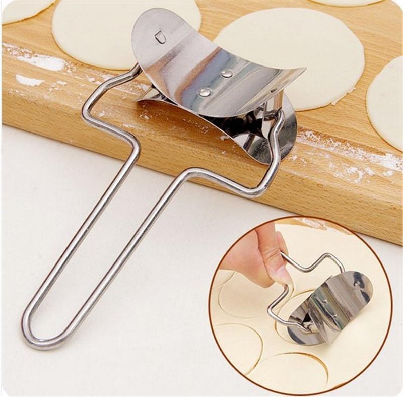 Polpetta Pelle Maker acciaio inossidabile Dumpling circolare Formina Jiaozi pasta Press Pie Kitchen cottura Strumenti