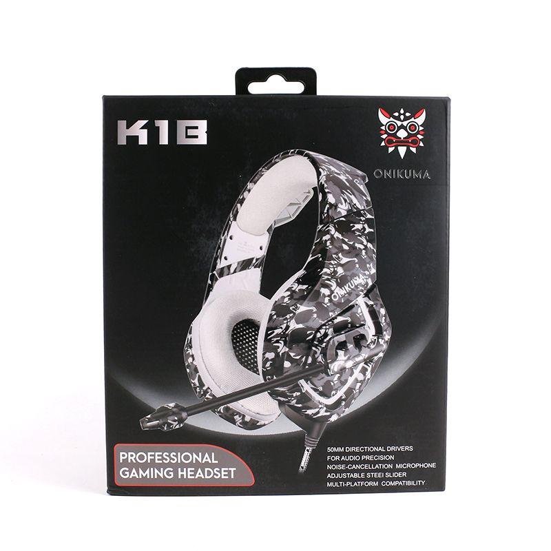 Топ продавец ONIKUMA K1 игровые наушники наушники для PC XBOX ONE PS4 гарнитура наушники для компьютера Наушники
