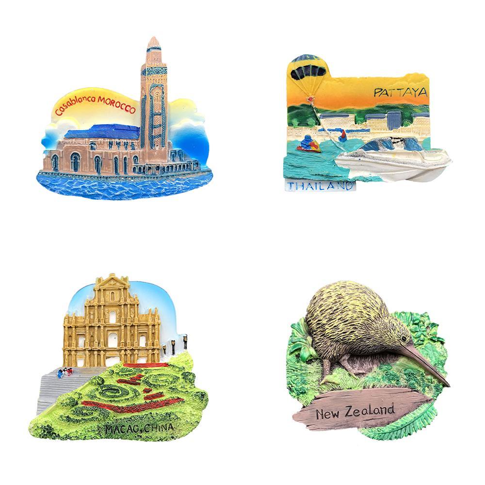 Tourist voyage souvenir la Résine 3D Aimant de réfrigérateur Creative Réfrigérateur Aimant NOUVEAU
